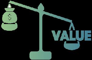 Money vs value scale