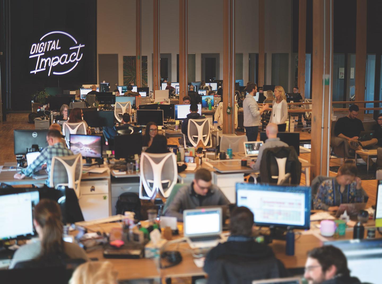 Image of Rocket55 office workspace